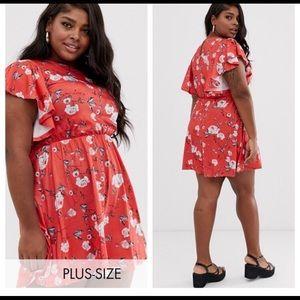 Pretty ASOS Club L Plus Floral Dress. Size 14